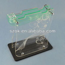 acrylic knife block,clear acrylic knife display stand