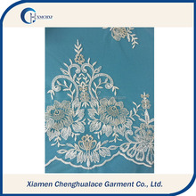 new fashion design white colour special applique lace , lace wedding dresses , lace fabric