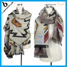 Fashion colorful winter thick wool scarf manufacturer
