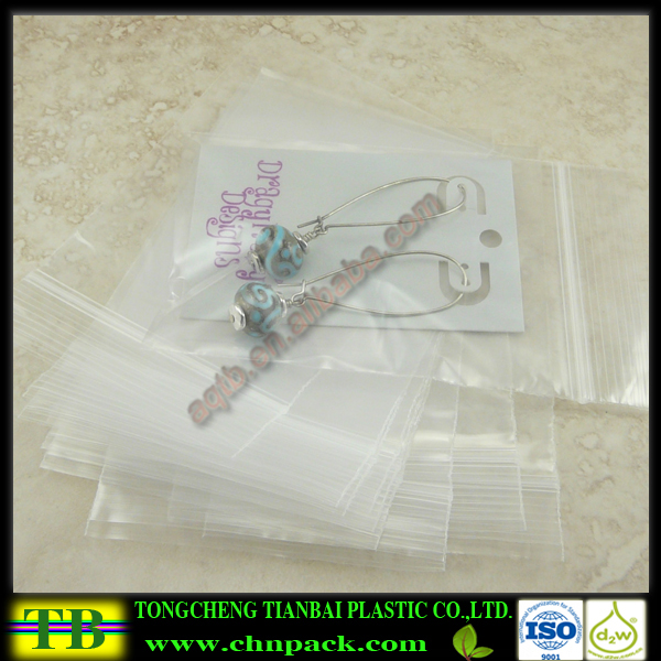 Custom LDPE Plastic Ziplock Bag for Jewelry, Beads, Small Items, Coins, Parts, Samples Packing