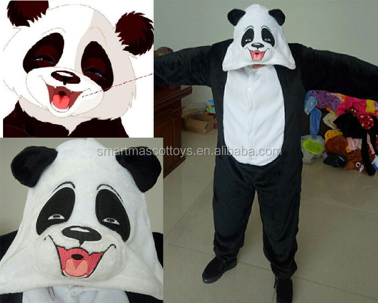 custom made happy panda adult onesie wholesale onesie