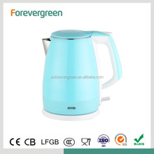 High Quality Wholesale Custom Cheap 2017 new kitchen appliances for travel use double layer pink electric kettle