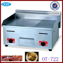 Cooking appliances hot selling stainless steel flat plate gas grill griddle with metal plate(OT-722)