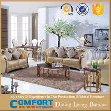 c-506 Italian style divan sofa wooden set living room furniture