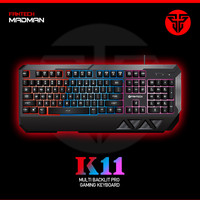 2016 New Fashion Professional USB gaming keyboard 3 colors LED Backlight Fantech K11