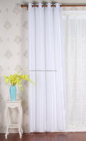 fashion design white faux silk polyester curtain fabric to made window curtain
