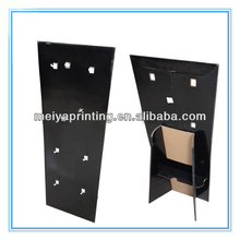Black attractive POS Counter Top PDQ Display with hooks keychain Cardboard advertising Display Stand with new design