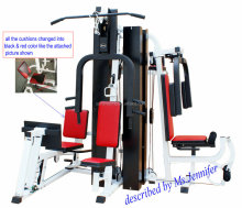 5-station Multi Gym Equipment/Integrated Gym Trainer Equipment for School,communitity,Senior Citizen Activity Centre