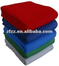 Super soft plain coloured coral fleece blanket