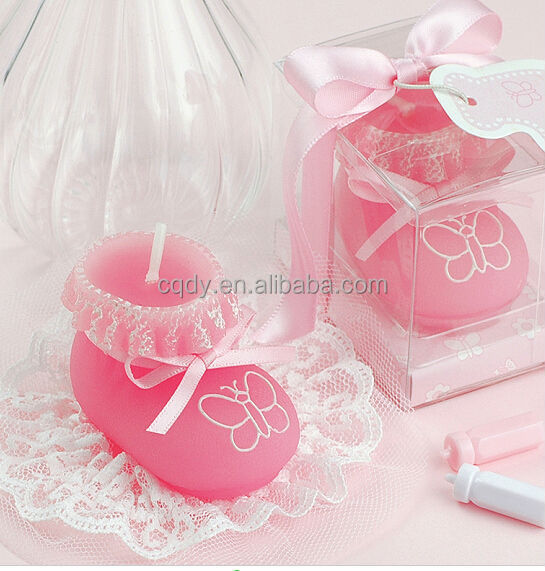 Best choice!Boutique Cute Pink Shoe taper Candle Wedding Favors,wedding gift
