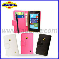 2013 New case for Nokia 520 Leather Wallet Flip Case Cover New Product