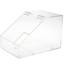 Clear Acrylic Bulk Food Bin Dispenser, Acrylic Candy Dispenser Storage Box Container with Scoop Holder