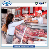 DSA25CCL1 Service Counter Display Refrigerator Used as Butcher Equipment In Supermarket