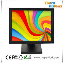 Factory Manufacturer 15 inch New TFT vertical touch screen lcd monitor with VGA DVI USB HDMI