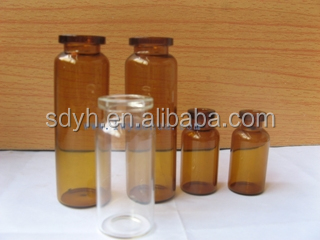 12R amber ISO glass vial medical use