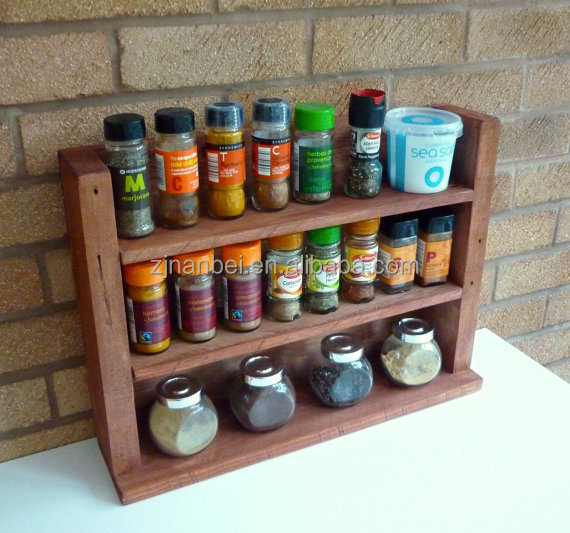 Custom made antique painted wooden kitchen rack,wood spice shelf
