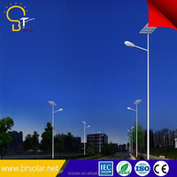 solar led panel road garden light price list manufacture with 4m pole