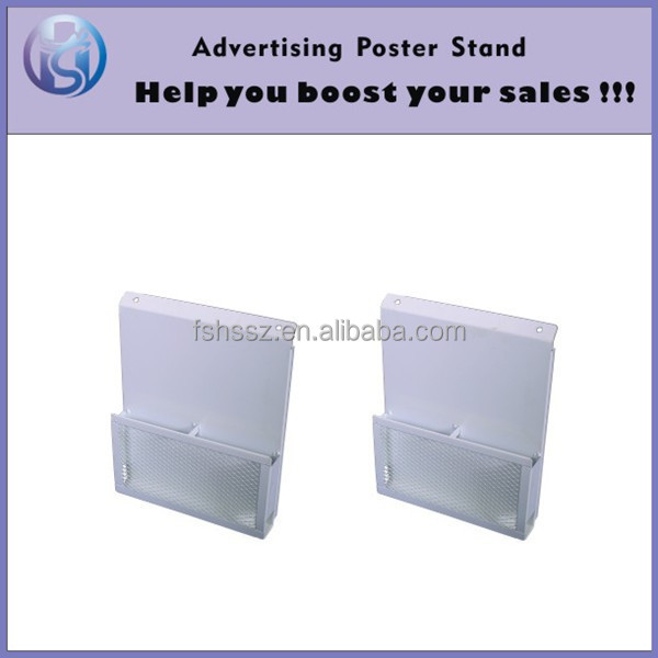Metal wall hang display rack for brochure leaflet HS-ZL19