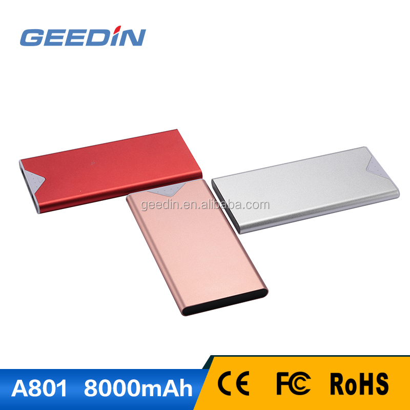 Free Moves Slim Portable Power Bank 8000mah