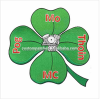 Four - leaf Lucky Fabric Embroidery Logo Badges Design