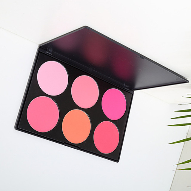 New Arrival Makeup Blush Packaging Pressed Powder Cheek Color Makeup Cosmetic Face Blusher Palette