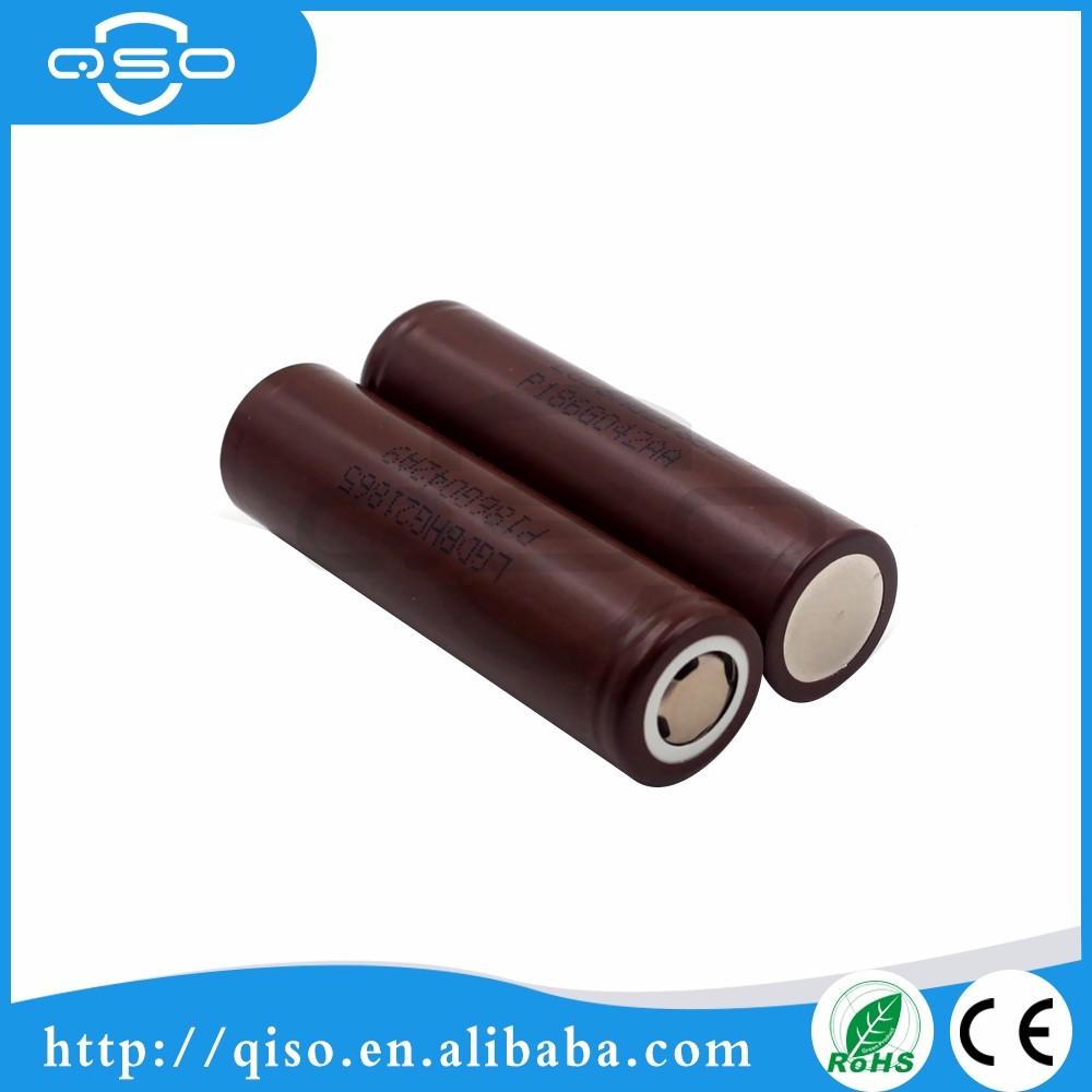 Flat Top Authentic chocolate color LG INR18650 HG2 3000mah 20A rechargeable lithium-ion superior power tools batteries