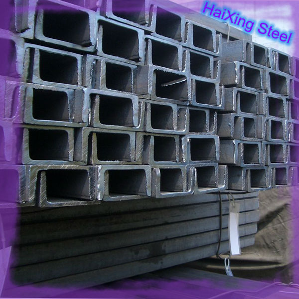 SS400 hot rolled steel U channel sizes