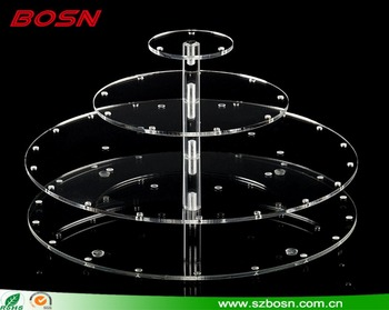 Shop Retailed Round Shape Acrylic 4 Layers Lollipop Display Stand for Sale