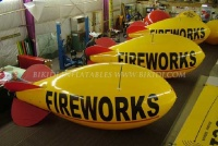 Fireworks Advertising Inflatable Helium Zeppelin, Inflatable Zeppelin/Helium Blimp/Helium Balloon K7010