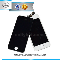 Hot sale!!! cell phone parts from china for iphone 5 lcd , for iphone 5 lcd touch screen digitizer assembly display