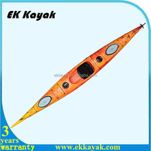 Single person 486 cm length plastic touring sea kayak made in China