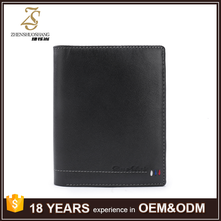 Men Genuine Leather Thin Money Clip Card Wallet