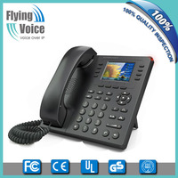 "China mobile supplier 8 lines 2.8"" TFT screen wireless desktop voip phone with 4 soft keys FIP11W"
