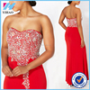 YiHao Fashion Red Jeweled japanese prom dress backless and bead woman dress Long sexy free prom dress