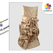 Manufacturer China Wholesale Champagne Taffeta Diana Banquet Chair Cover