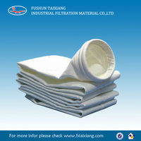 Strong Acid Alkali Resistant needle punched PTFE Water & Oil Proof bag filter