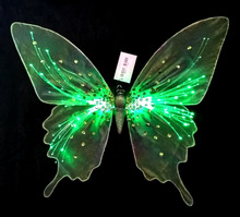 nightlight glow button battery LED string butterfly wing for resteraunt wall hang decoration