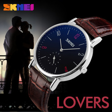 SKMEI Small Wrists for Couples Watches Top Brand Leather Genuine Best Choice