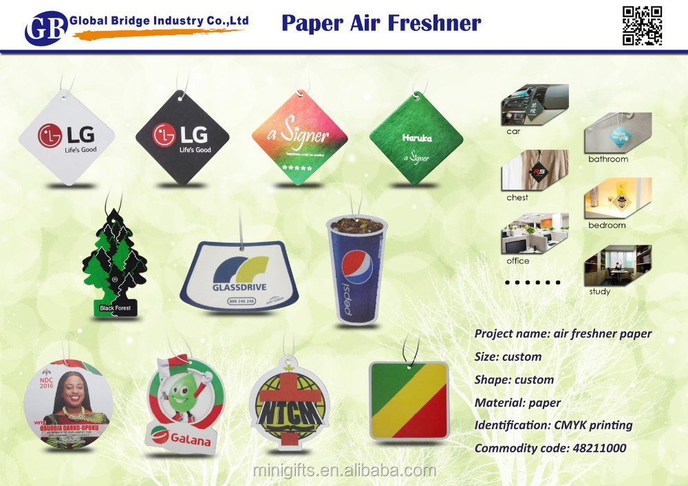 Cheap Air Freshener Manufacturers Wholesale Promotion Custom hanging Paper Car Air Freshener For Car