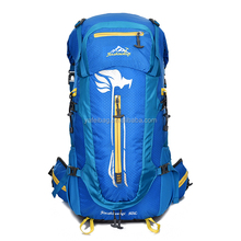 Professional backpack manufacturer top quality outdoor sports travelling trekking mountaineering backpack mountain top backpack