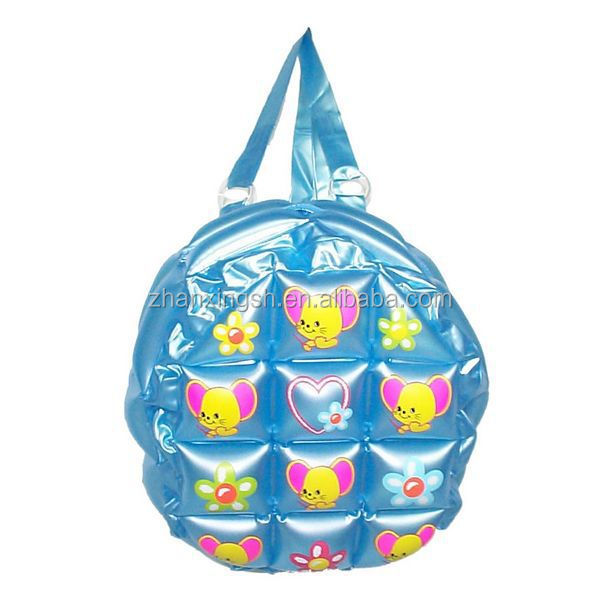 new fashion design shanghai zhanxing hot sell pvc cartoon inflatable bubble backpack bag