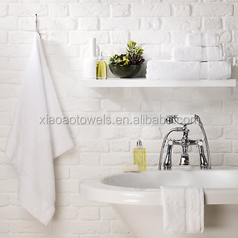 AZO free china factory directly offer white cotton bathroom towel