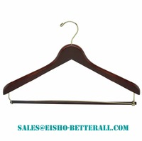 Wholesale-Betterall WL8008 Classic Colored hangers personalized wooden clothes hangers