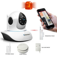 h.264 full hd network security system mini wireless smoke detector internet ip camera webcam cctv