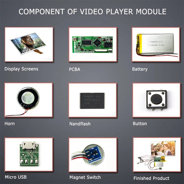 5 inch video module tft flexible lcd display shenzhen