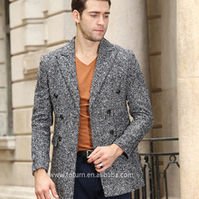 Mens European Fashion Wool Winter Coats trench Jacket