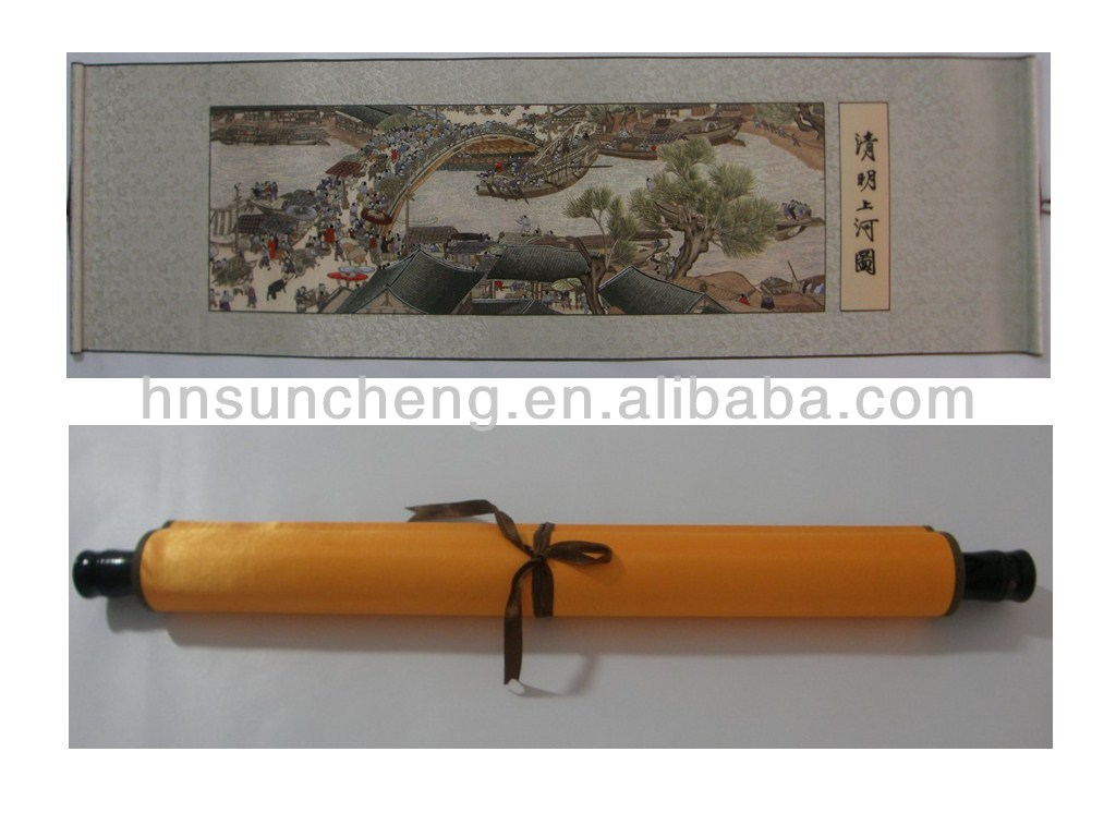 Riverside Scene at Qingming Festival -100% handmade silk embroidery wall decor