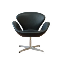 Modern <strong>furniture</strong> customized Swivel chair real leather leisure swan chair supplier Chair for reception room