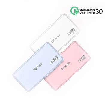 YOOBAO fast charging quick charger qc3.0 power bank