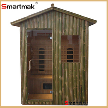 Canada hemlock infrared sauna room,far infrared outdoor sauna with high quality